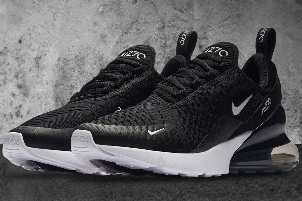 info for 3dfbe 63b56 Most Popular Nike Air Max 270 Flyknit Black White Men Sportswear Running  Shoes