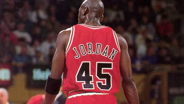 pretty nice ce627 754e9 Michael Jordan Chicago Bulls 45 Jersey