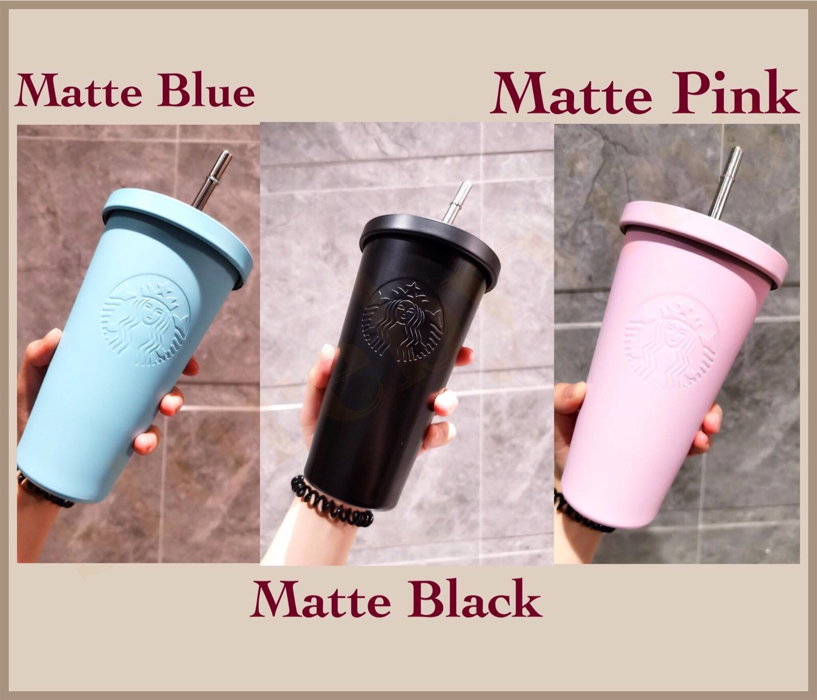 Starbucks Limited Tumbler With Metal Straw Limited Version