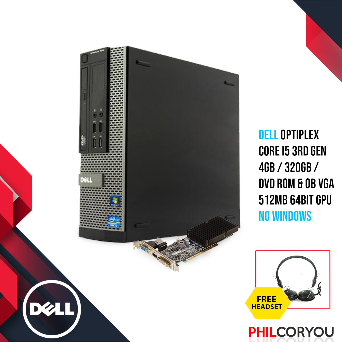 [Desktop] Dell Optiplex 7010 i5-3470 3 1Ghz(3rd Gen) 4GB 320GB with Vcard  512mb 64bit & free Multimedia Headset with mic