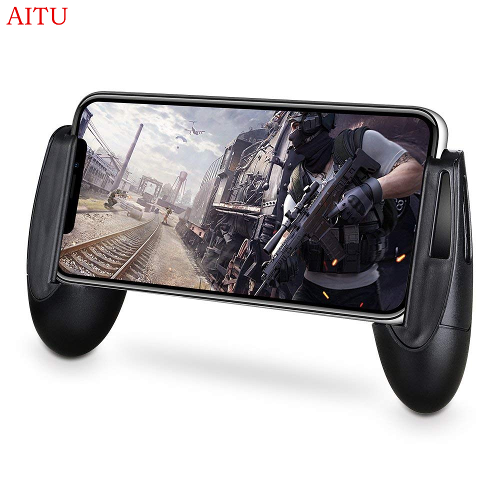 Mobile Game Controller Handle Grip Gamepad L1 R1 Sensitive Shoot Aim  Joysticks Physical Buttons for PUBG/Knives Out/Rules of Survival for 4 5