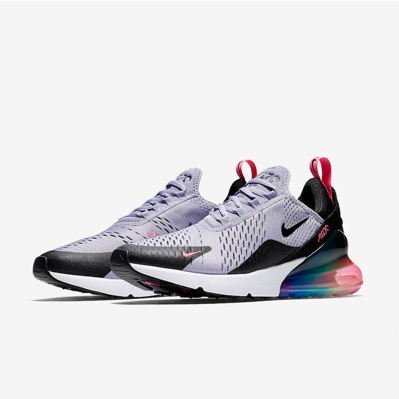 Nike AIR MAX 270 FLYKNIT Running Shoes For Women Rainbow