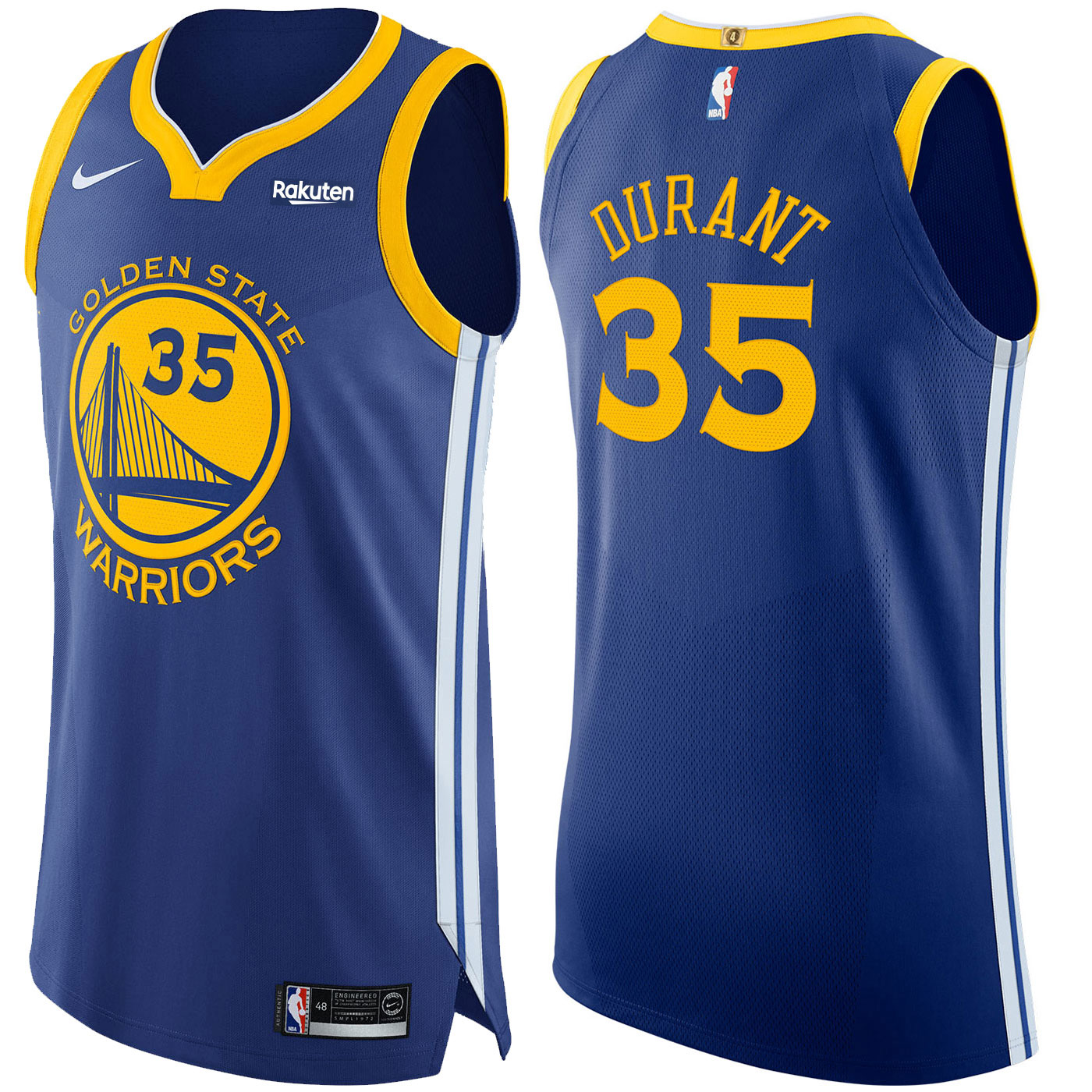 f8ea6e7e2 Product details of Golden State Warriors Mens Kevin Durant #35 Authentic On  Court Icon Jersey