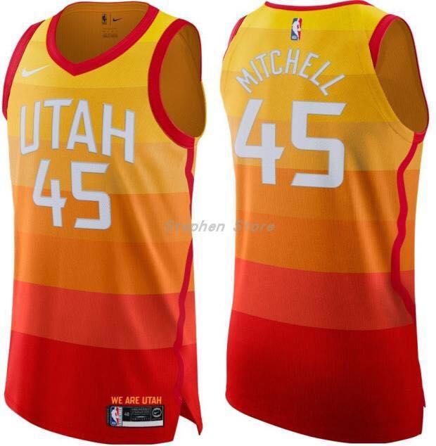 huge discount 7ca7e f3b1f nba #45 MITCHELL UTAH JAZZ basketball jersey