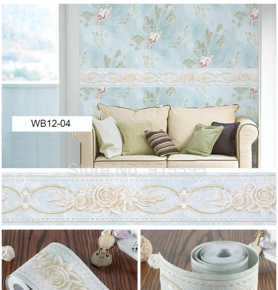 Embossed Textured Border Wallpaper 12cm