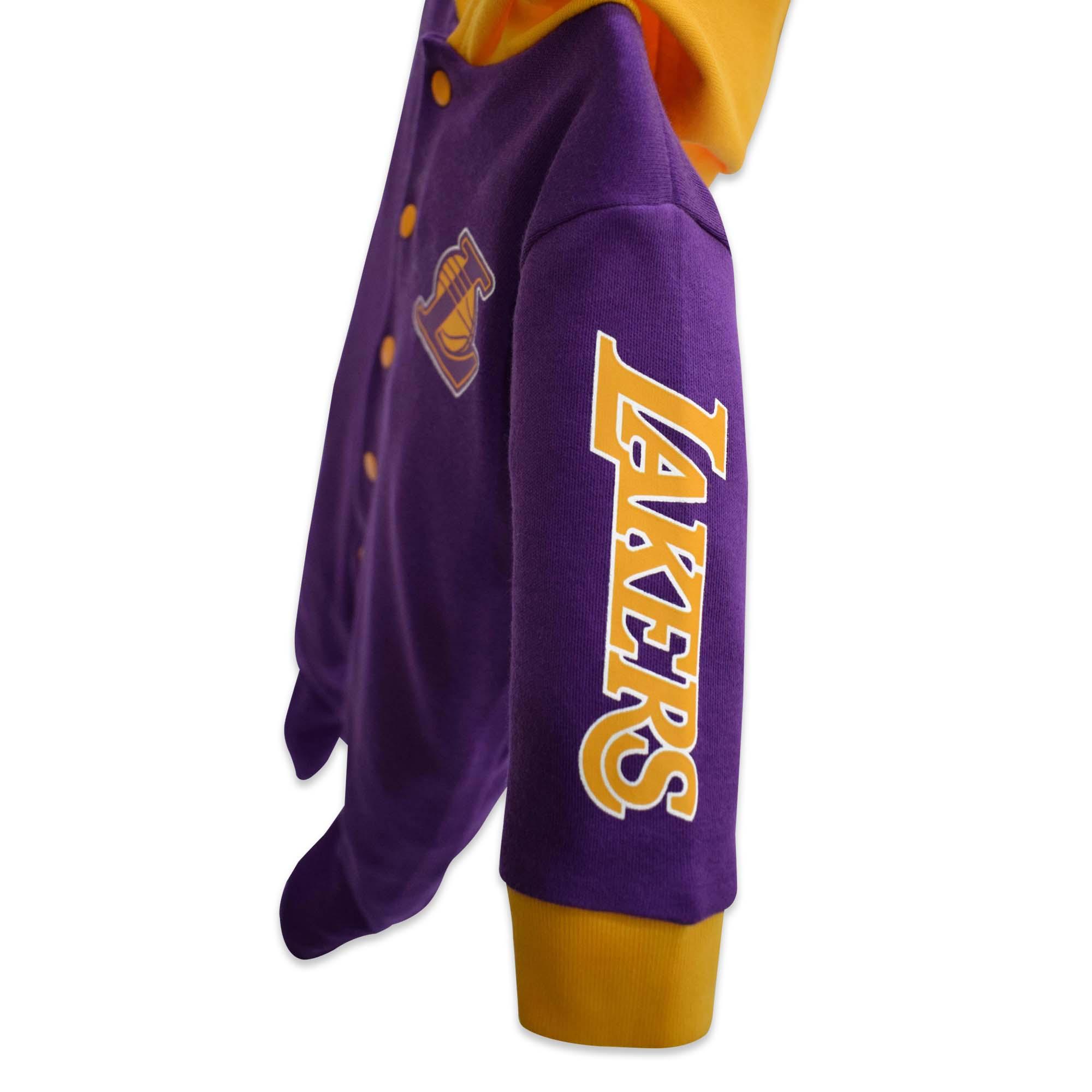 1e6673acecd NBA Baby - Long Sleeve Sleeper with Hood (Baby Baller - Lakers ...