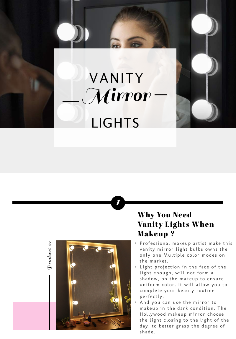 Vanity Lights Self Adhesive Usb Powered Two Color Adjustable Hollywood Make Up Vanity Mirror Lights Lamps