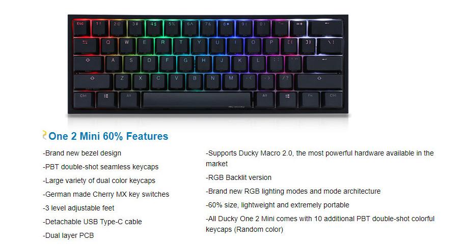 Ducky One 2 Mini Mechanical Keyboard