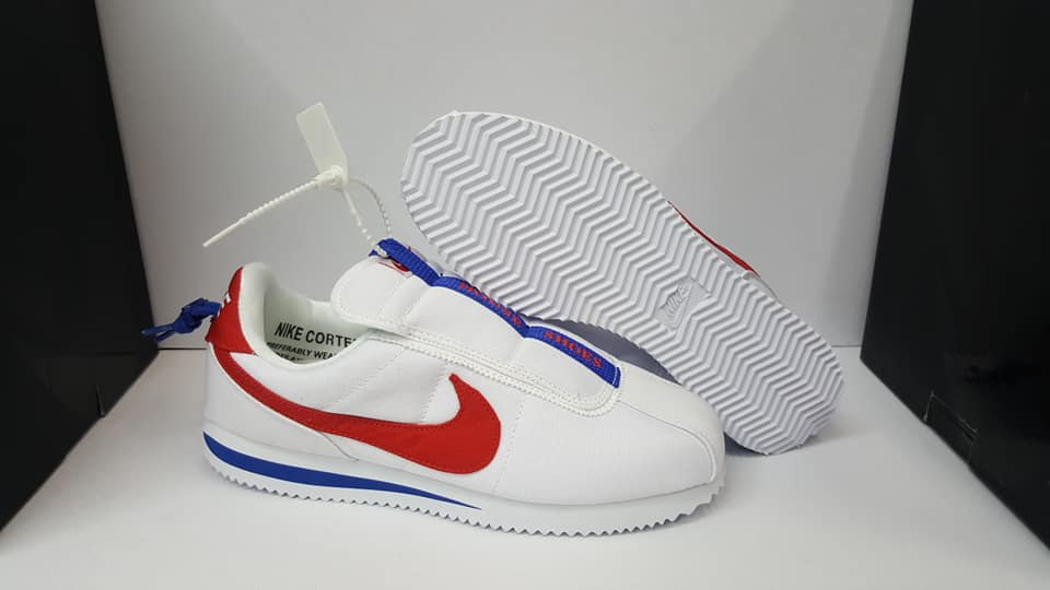 newest 0a51f 4dd94 Nike Cortez Kenny IV 4 Couple White Red Blue Unisex Sneakers (Price is for  1 pair only)