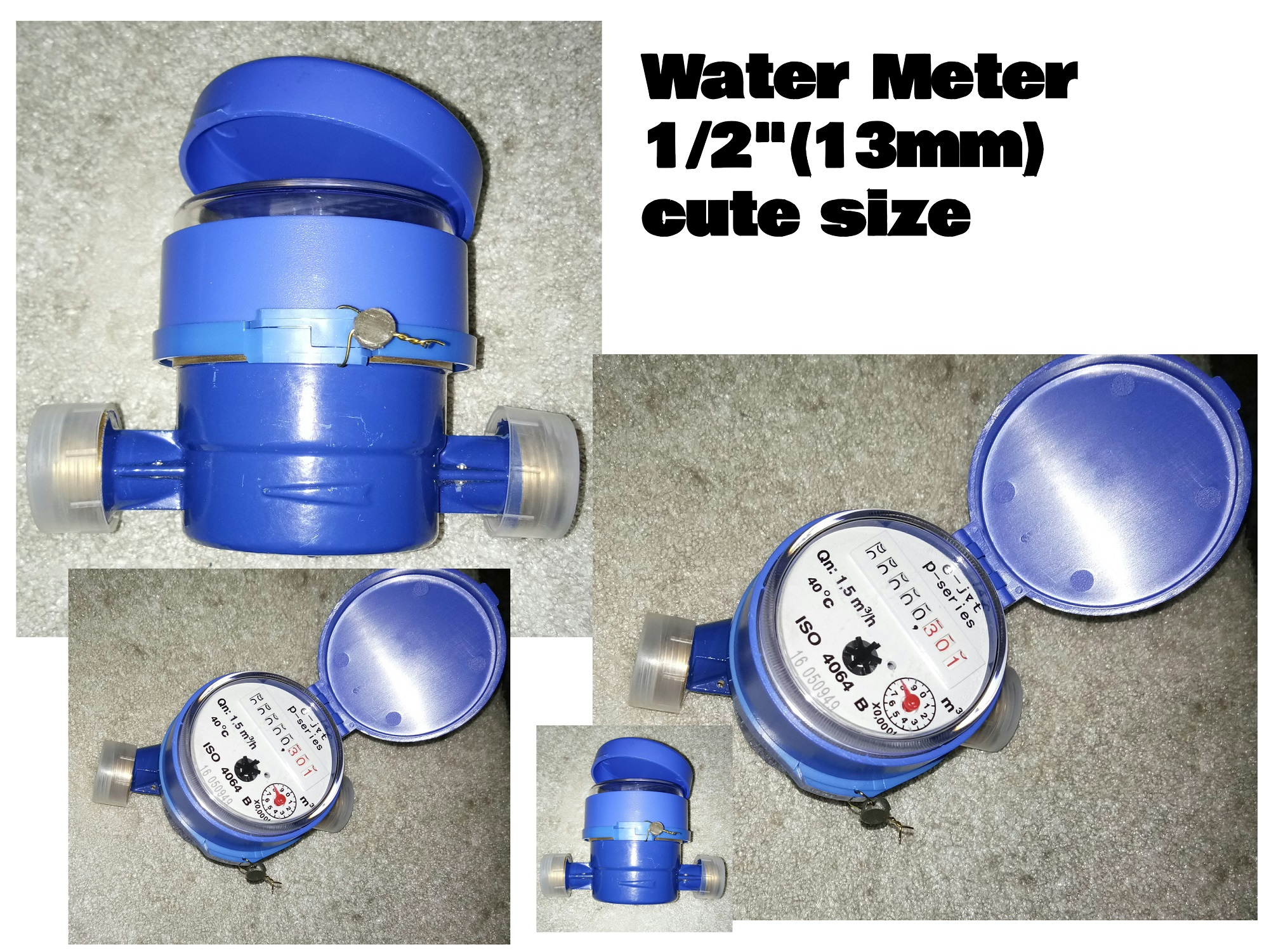 WATER SUB METER E-jet Water Meter Heavy Duty Brass body cute size 13mm 1/2