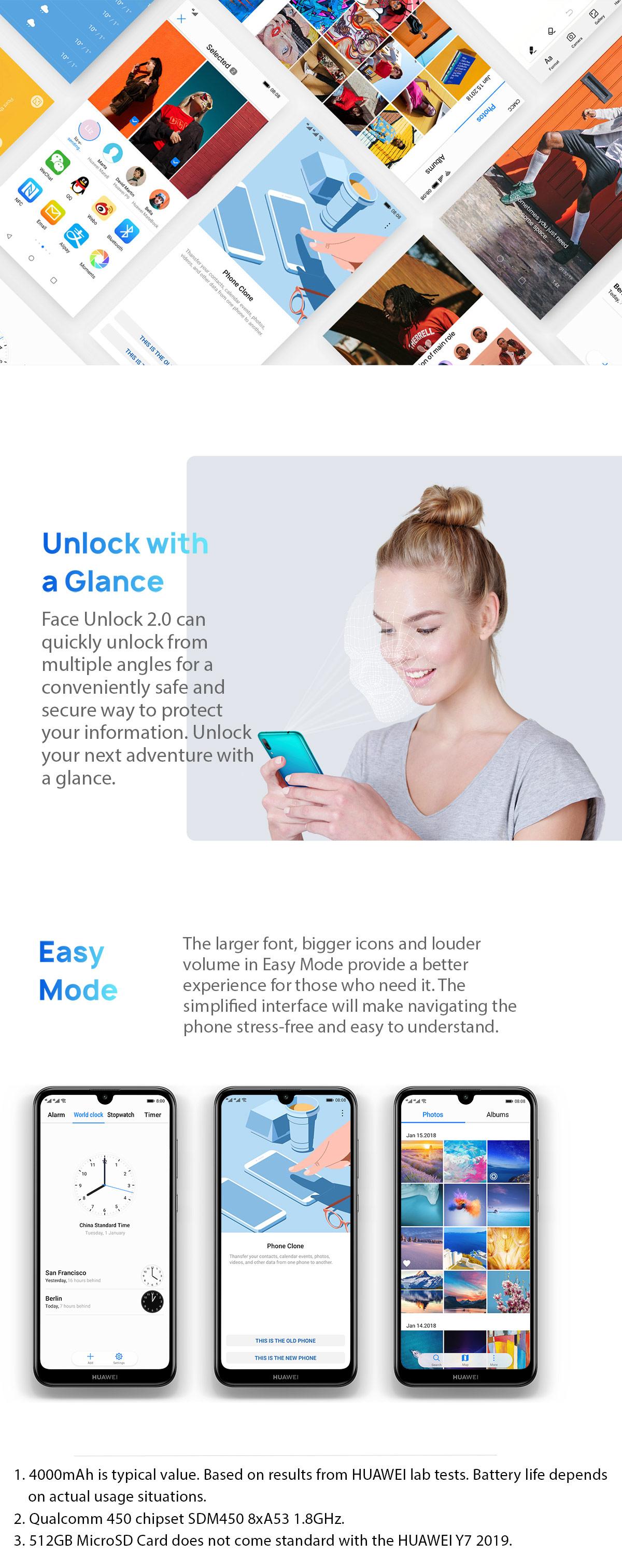 Huawei Y7 Pro 2019 32GB — 3GB 6 26 inches HD+ Screen Smart Phone
