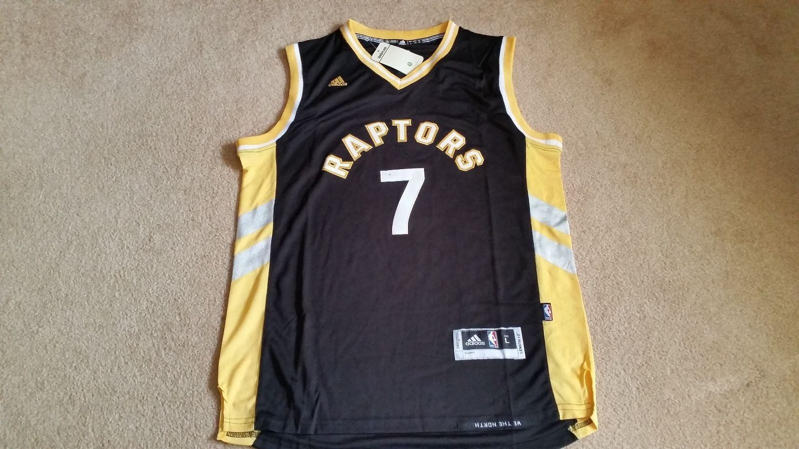 online retailer d92b6 45386 Official Quality Toronto Raptors 7 Kyle Lowry Black Statement NBA Edition