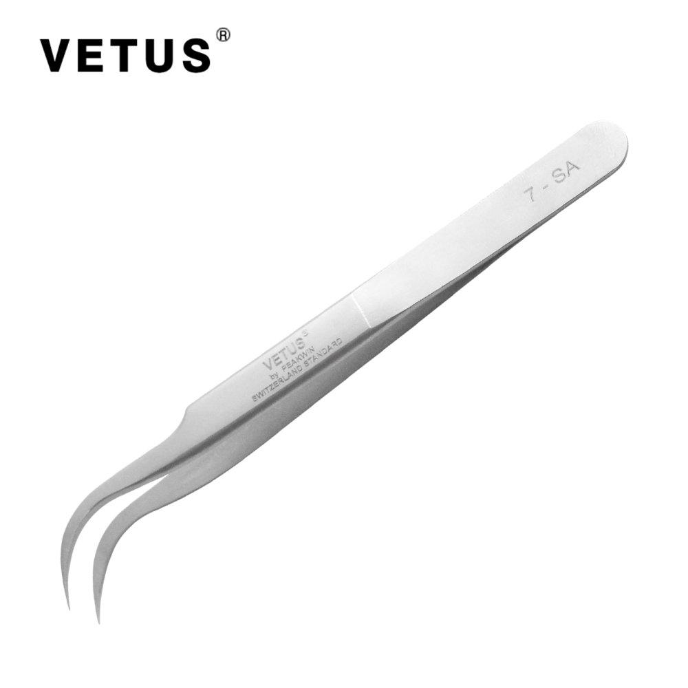 Vetus Original Tweezer Non-magnetic Stainless Steel Slant Tip 7-SA