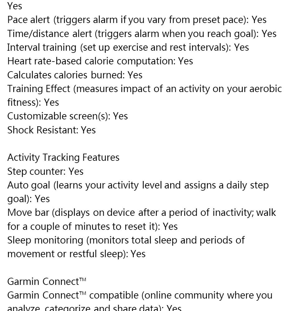 Garmin Forerunner 235 Wrist-Based Heart Rate GPS Running Watch