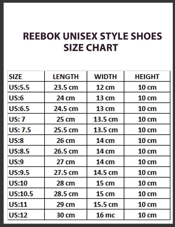 Reebok Shoe Size Chart Off 56 Www Otuzaltinciparalel Com