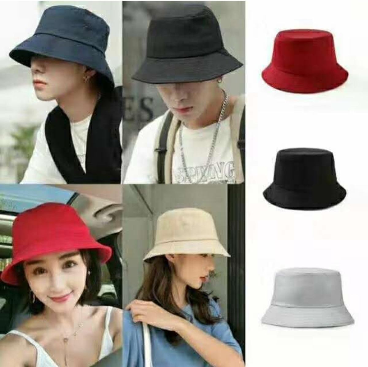 Korean Summer Fashion Bucket Hat Lazada Ph
