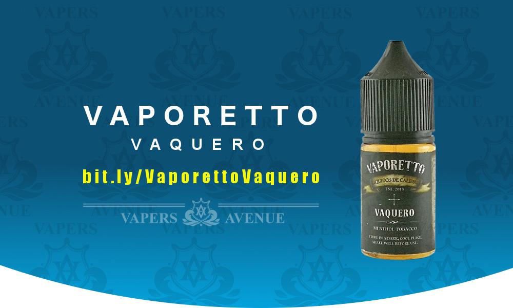Vaporetto Salt Nic - Vaquero - Menthol Tobacco - 30mL 24mg salt nic vape  juice mentholated tobacco flavored e-juice minty high nic salt e-liquid