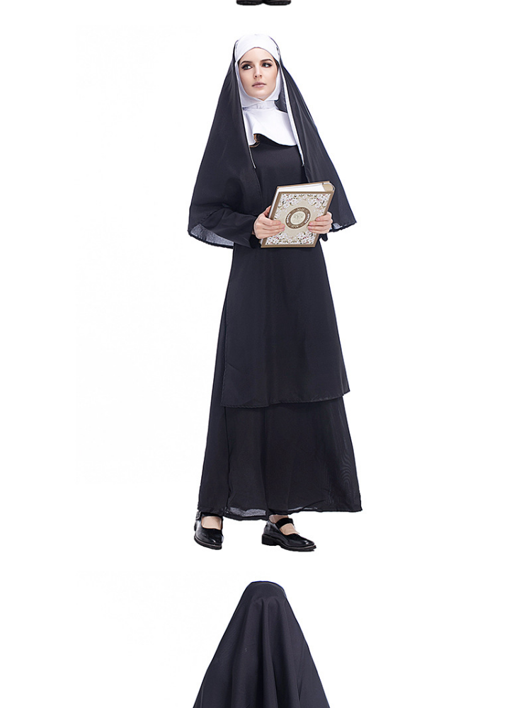 Plus Size Halloween Costumes 2019.Plus Size Holy Sister Nun Halloween Costume For Fat Women 2019 New Arrivals