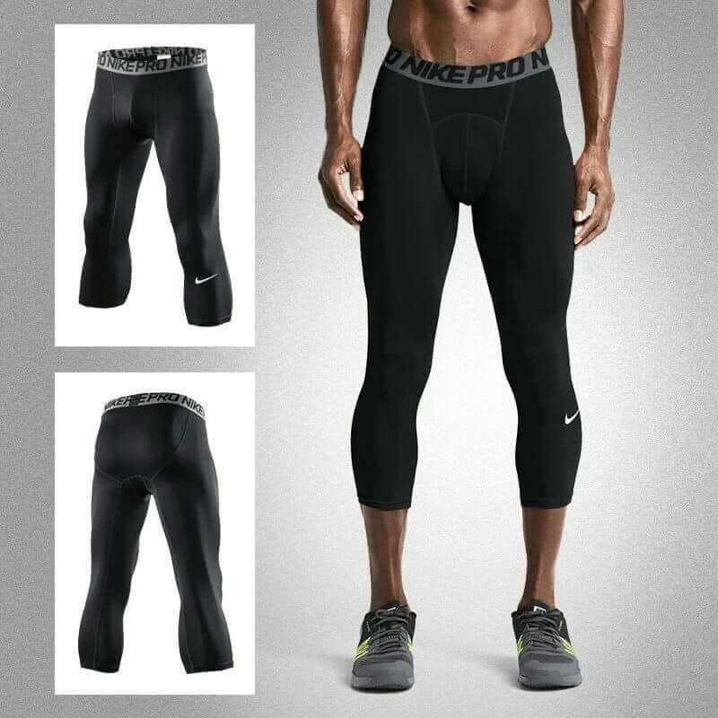 Compression Men S Leggings Pants For Running Jogging Basketball Black 7808 Lazada Ph