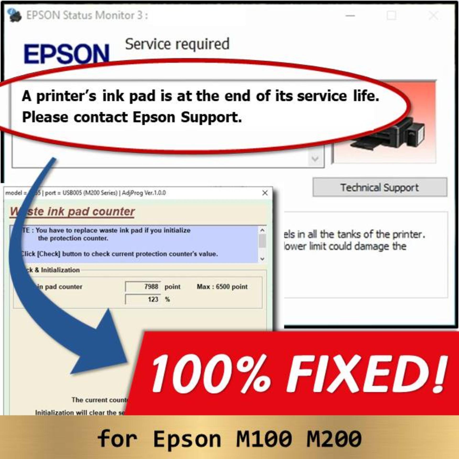 Epson L130 L220 L310 L360 L365 Resetter Adjustment Program Unlimited Use