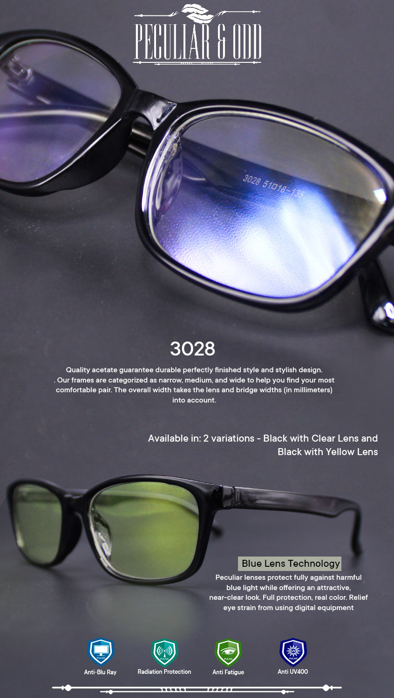 d7230852bebd Product details of Peculiar Square 3028 BlackYellow Anti Radiation Computer  Eyeglass Driving Optical Replaceable Eyewear Unisex