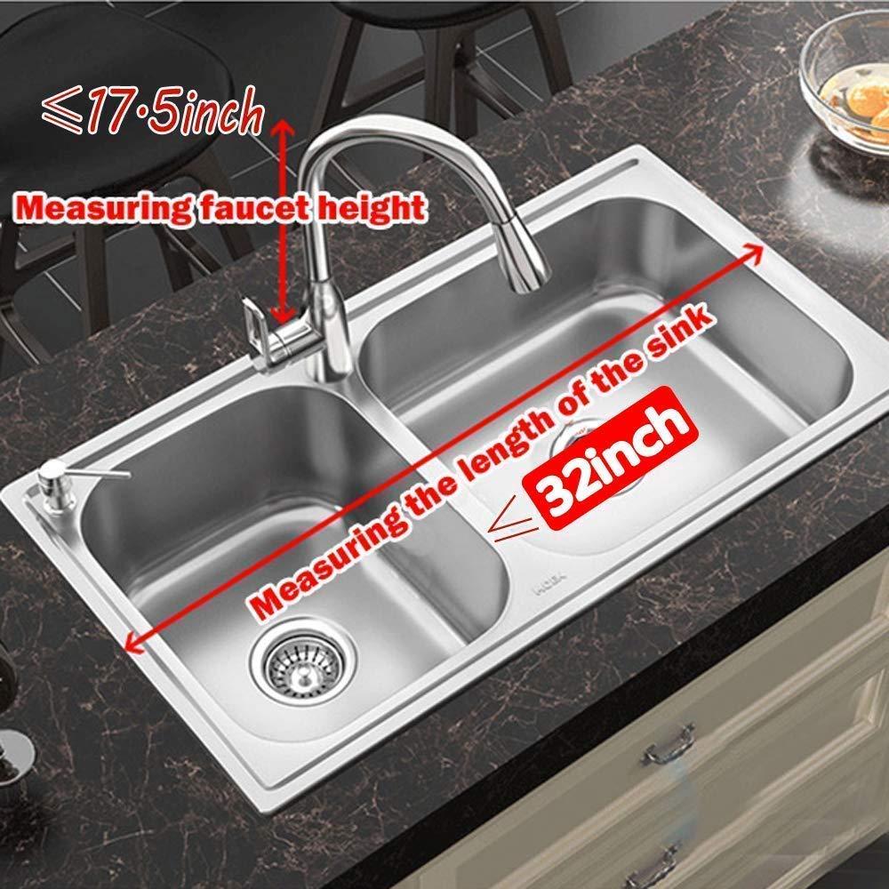 Sink size/≤32.5in Adjustable Dish Drainer Shelf Multifunctional Kitchen Storage Organizer With Utensils Holder Fnboc Over The Sink Dish Drying Rack