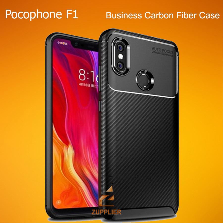 Xiaomi Pocophone F1 Case New Carbon Fiber Business Autofocus Rugged Armor  Cover