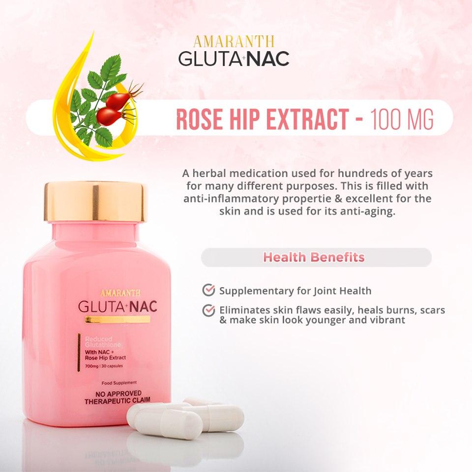 Glutanac Glutathione + NAC + Rosehip + Vitamin C 700mg 30 Capsules