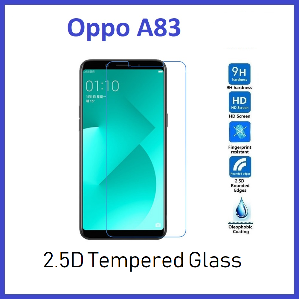Oppo A83 Tempered Glass Clear 2 5D Premium High Quality 9H Screen Protector  with Retail Packaging