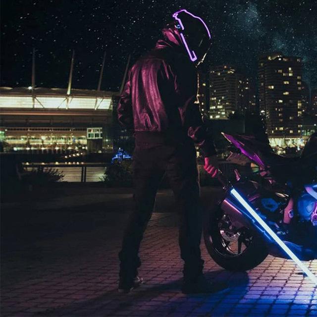 Helmets Light Strip Motorcycle Helmet Led Light Strip Portable Helmets Signal Light Strip For Bike Or Motorcycle Helmet