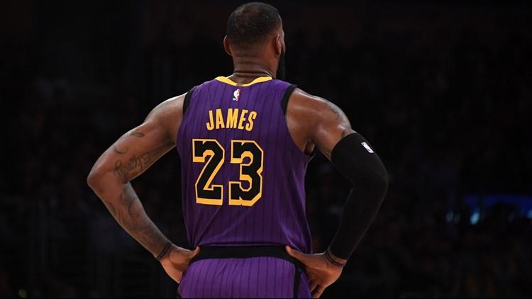 half off d66ec e315c NBA BASKETBALL LAKERS #23 LEBRON JAMES CITY JERSEY HIGH QUALITY