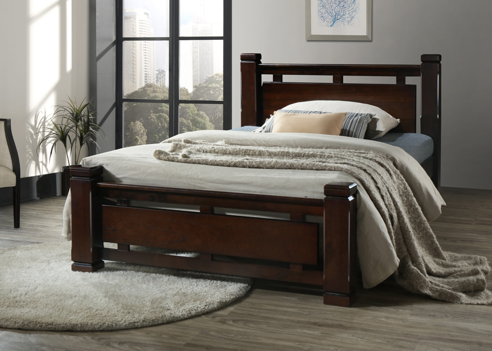 Ihome Jason Solid Wood Bed