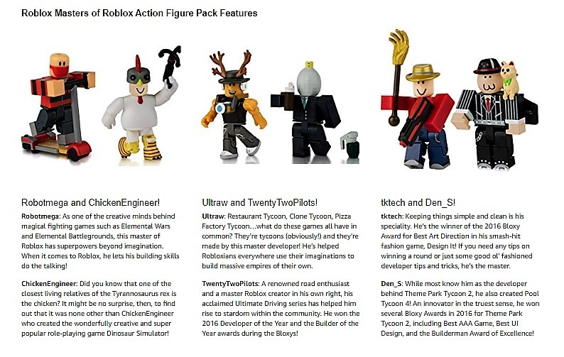 Buyer Central Roblox Action Figures (Masters of Roblox - Set of 6) NO CODE!