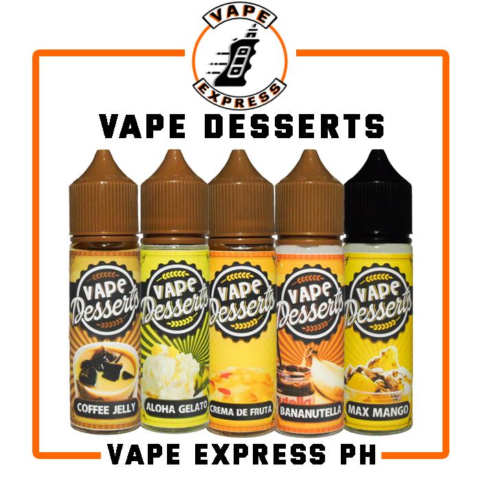 Vape Desserts E-juice [ Bananutela Coffe Jelly Max Mango Crema De Fruta  Aloha Gelato ] Vape Juice