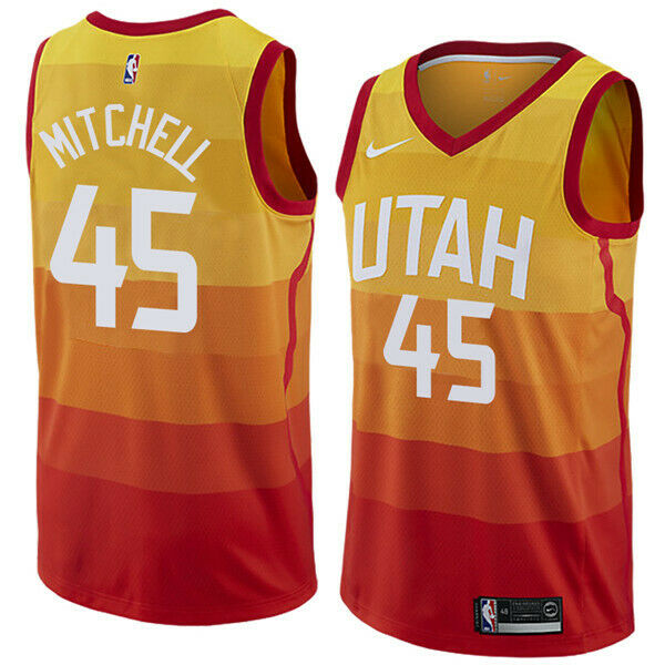 new style 0ba79 76f36 Nike 2018-2019 NBA Utah Jazz Donovan Mitchell #45 City Edition Swingman  Jersey - Men's NBA Jersey sando