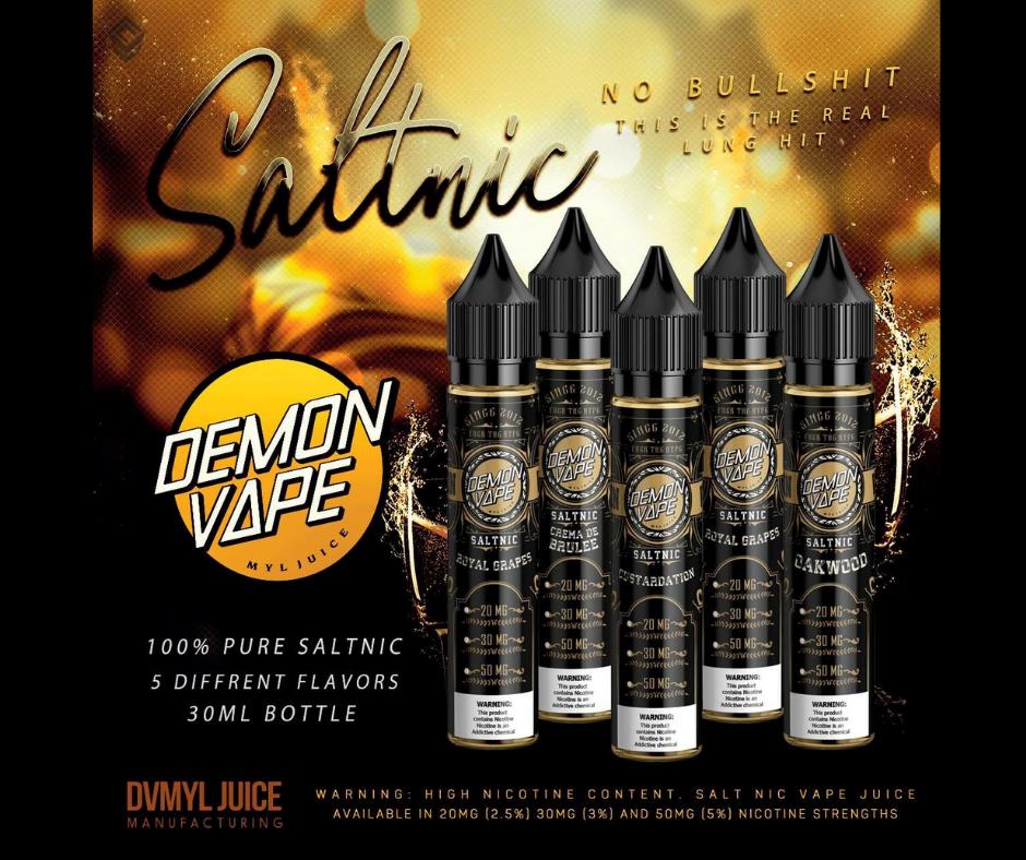 Demon Vape Oakwood Premium SALTNIC E-liquid 30mg 30ml Strong Wood Tobacco  Flavored E-Juice