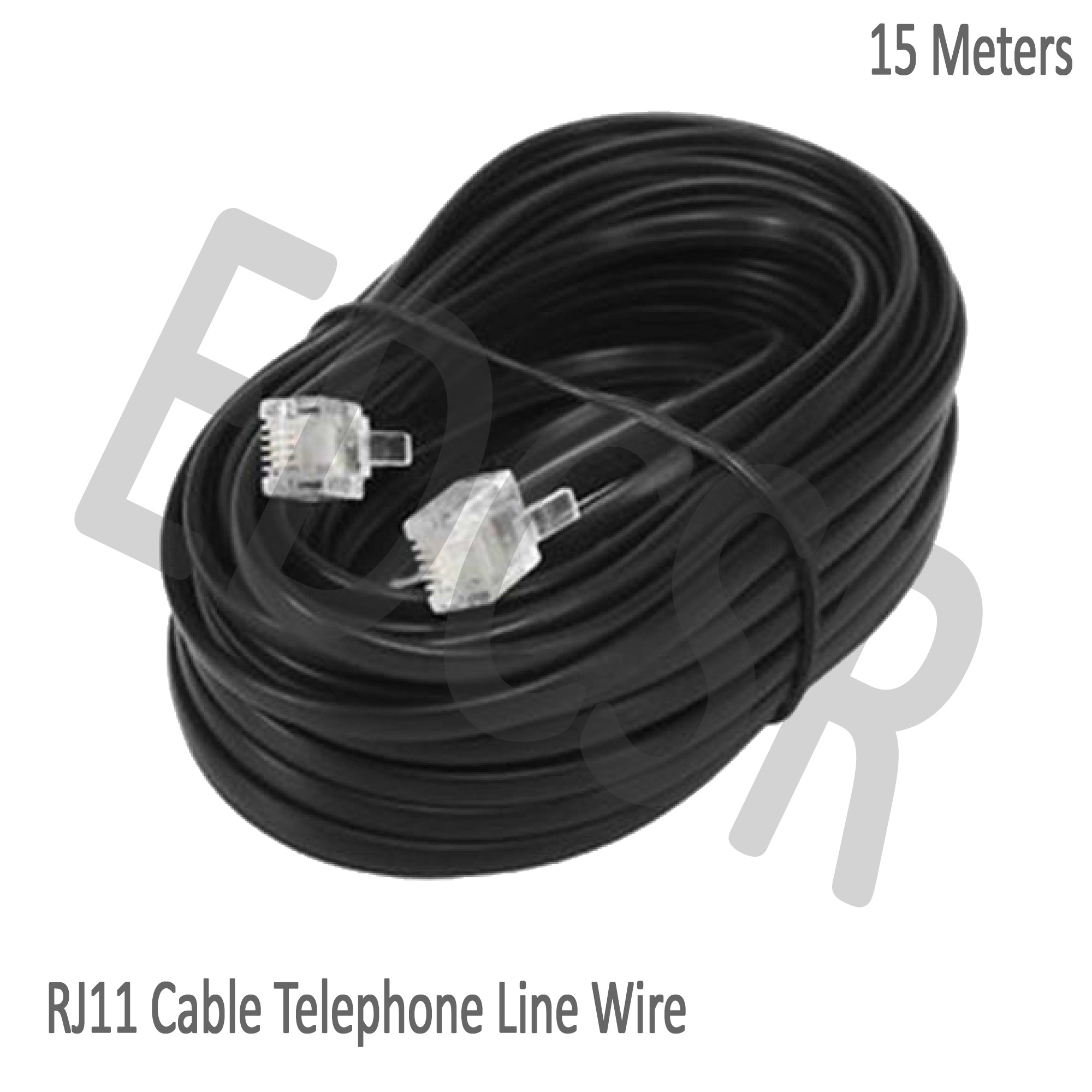 RJ11 Cable Telephone Line Wire - 15 Meters (Black) on telephone equipment, cable wiring, telephone handset holder, telephone plugs, telephone transmitter, telephone components, telephone computer, telephone tools, telephone switch, telephone number, telephone systems, data wiring, telephone design, telephone diagram, telephone blue, telephone cables, computer network wiring, telephone connectors, telephone relay, telephone wires, telephone schematic, computer wiring, telephone service, low voltage wiring, electrical wiring, telephone jacks, telephone panel board, telephone repair, telephone communication system, telephone data lines, telephone line work, telephone installation, telephone operators,