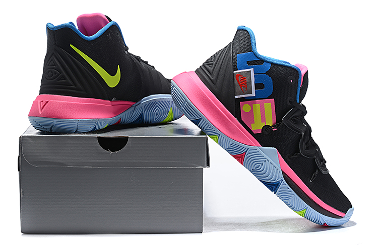 huge discount 98069 b684a Best Selling Official Nike Kyrie 5 Black Pink Multi-Color Men s ...
