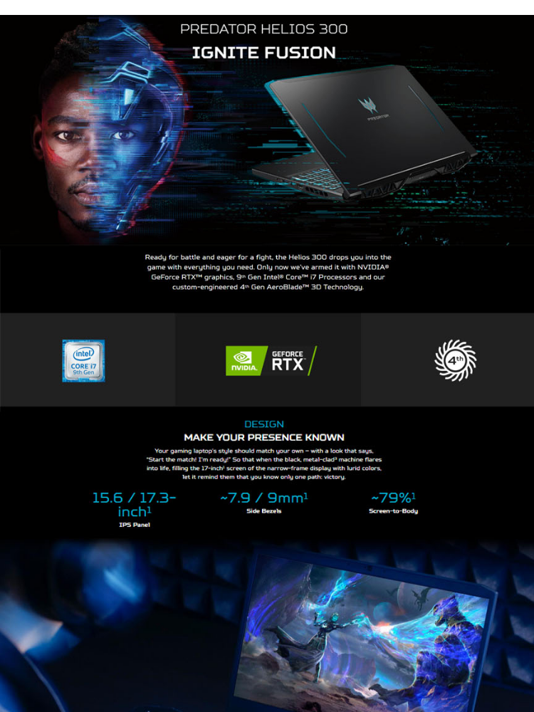 Acer Predator Helios 300 PH315-51-7308 15 6-in FHD, IPS Intel Core  i7-8750H/8GB/128GB + 1TB/6GB GTX1060/Windows 10 Gaming Laptop with Free  Acer