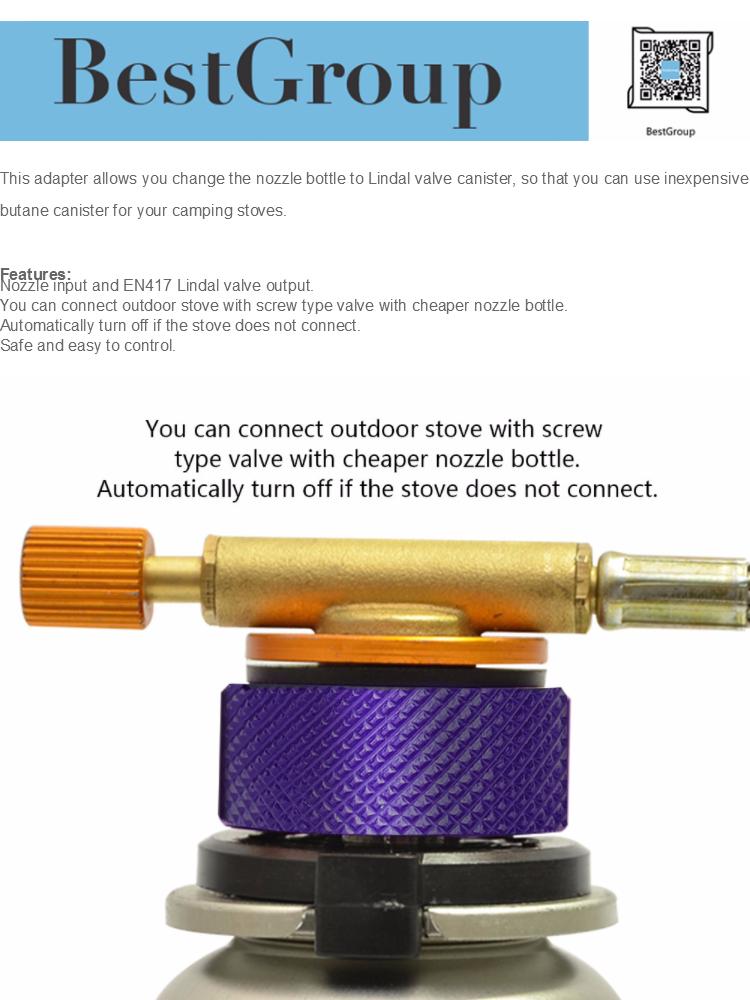 Outdoor Stove Burners Adaptor Input Screw Type Converter Connector Valve  Gas Tank Adapter