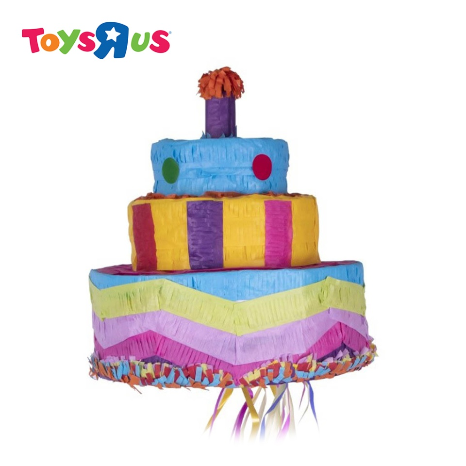 Pleasing Birthday Cake Pinata Toys R Us Funny Birthday Cards Online Elaedamsfinfo