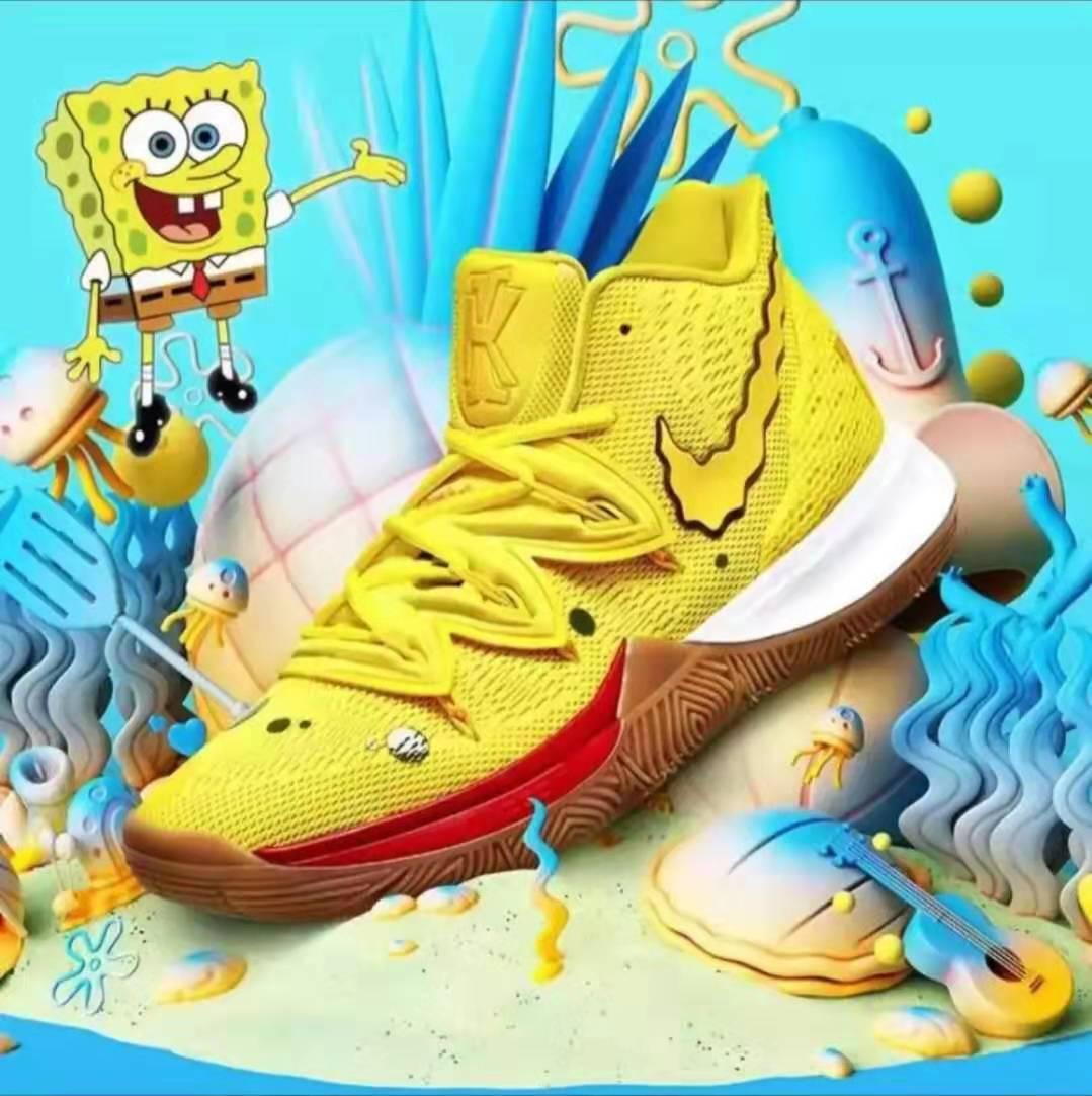 11.11 SALE!! Nike Kyrie Irving 5 X Spongebob Men's Basketball Shoes(yellow)