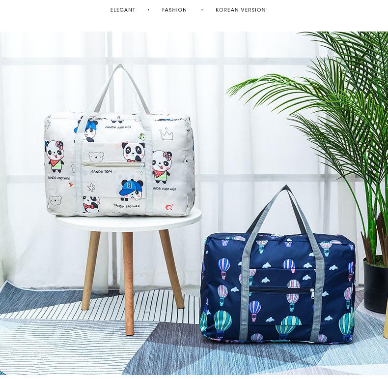 Travel Luggage Duffle Bag Lightweight Portable Handbag Sailboat Ocean Large Capacity Waterproof Foldable Storage Tote