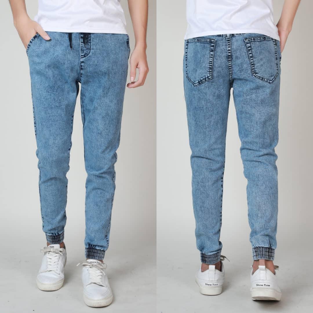 sale usa online wholesale sales promotion Men's Acid Wash Jogger Pants Jeans For Men#302