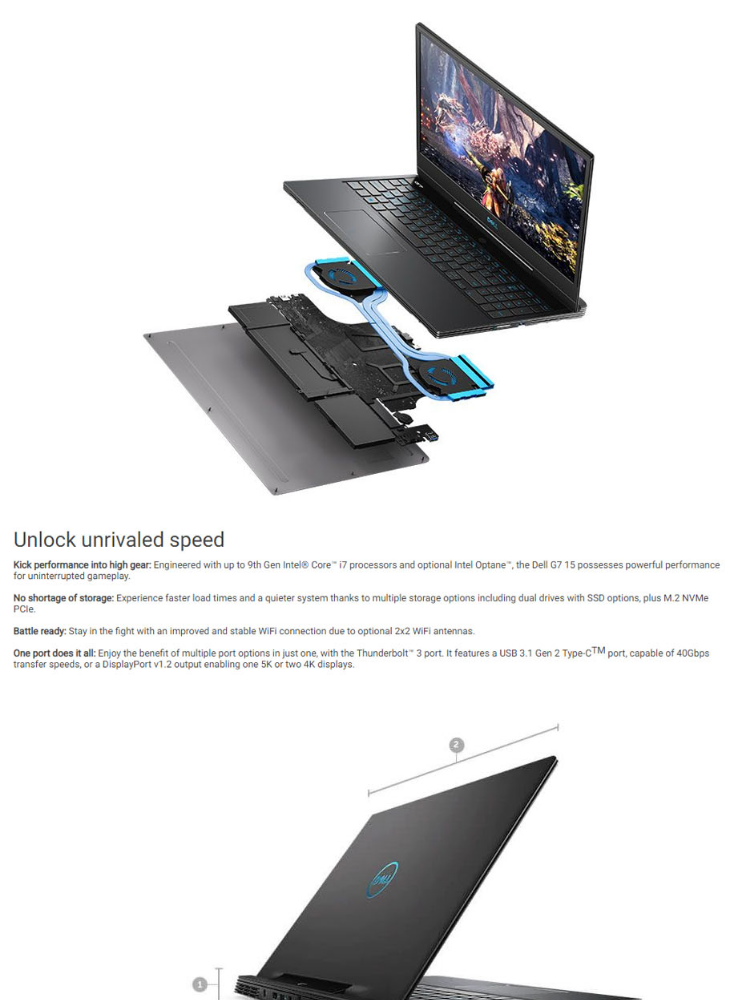 Dell G7 7590 Gaming 15 6-in FHD, IPS, 144Hz Intel Core  i7-8750H/16GB/512GB/8GB RTX 2070/Windows 10 Gaming Laptop with Free Dell  Backpack