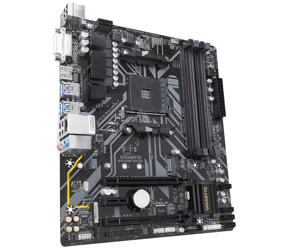 AMD RYZEN 5 3400G , Gigabyte B450M DS3H  Adata 8GB DDR4 2666Mhz, 1TB WD HD,  Corsair Carbide spec 5 CASE with Corsair VS550W Power Supply Desktop