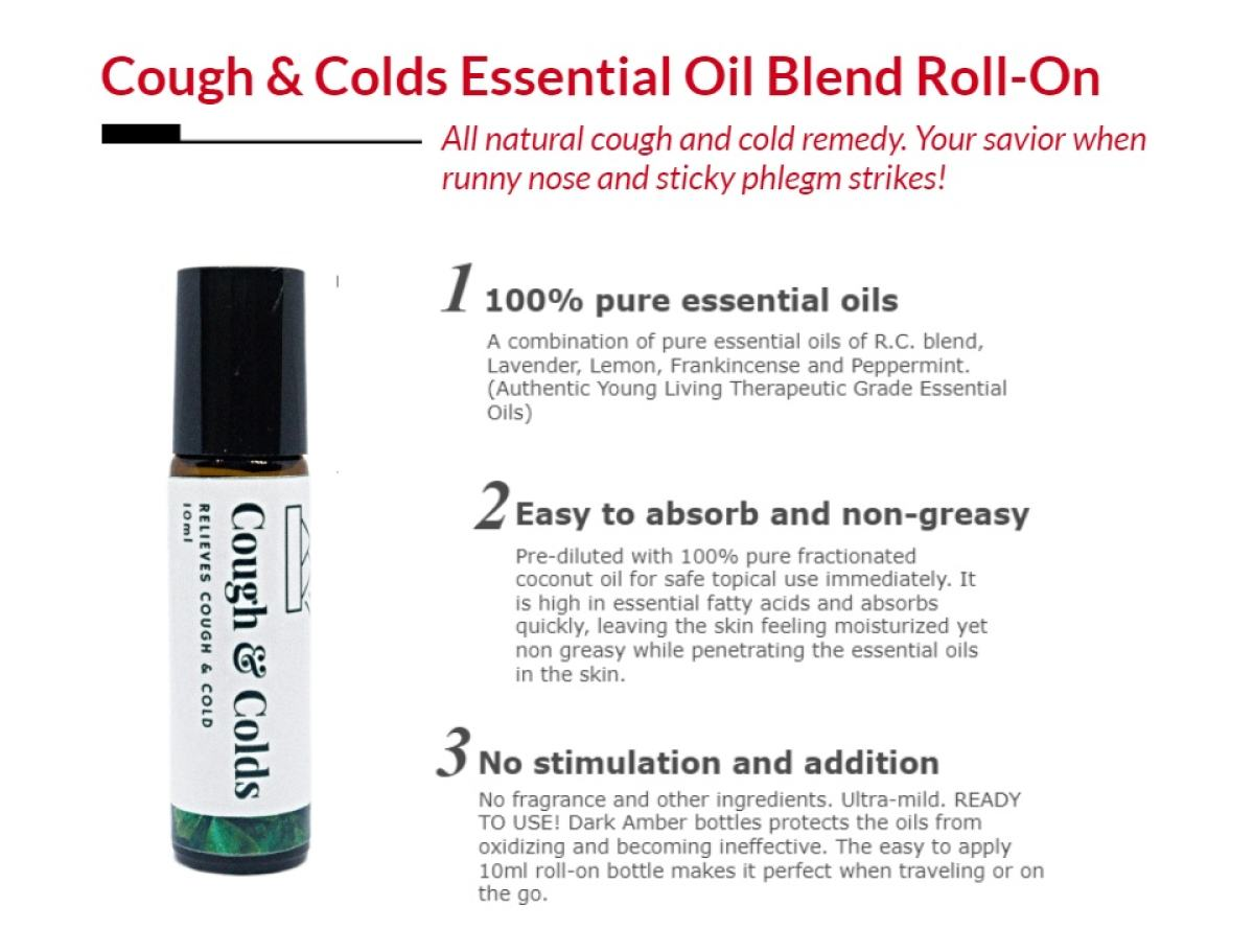 Cough And Colds Essential Oil Roll On 10ml 100 Pure Therapeutic Grade Essential Oil Diluted