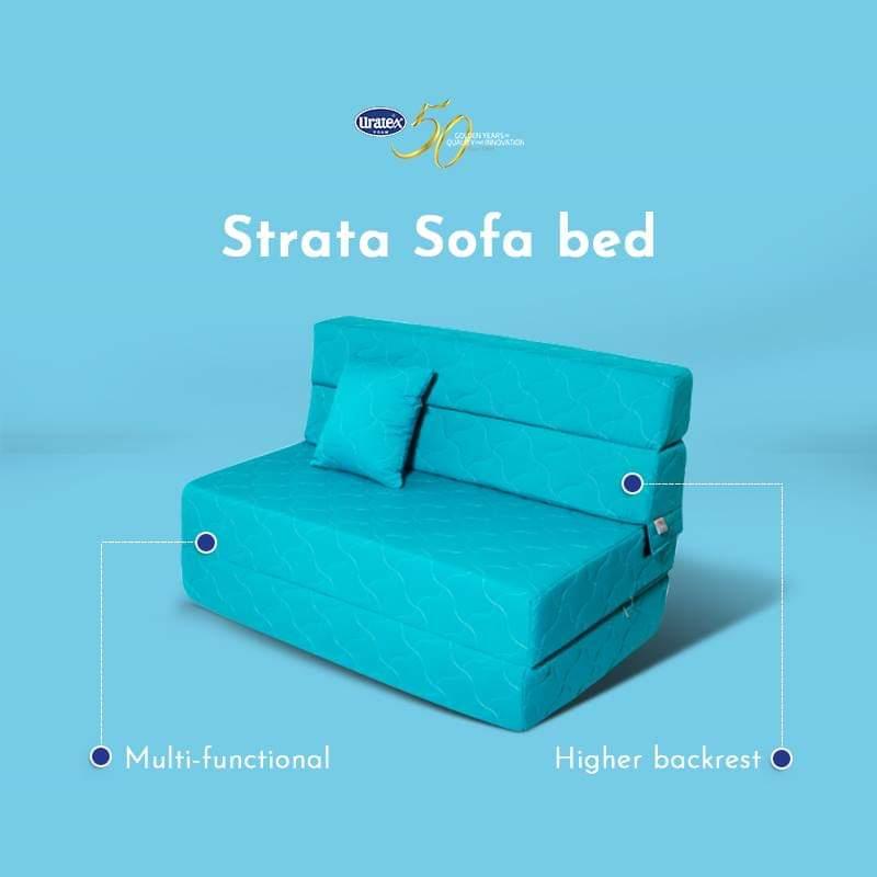 Uratex Strata Sofa Bed Single Green