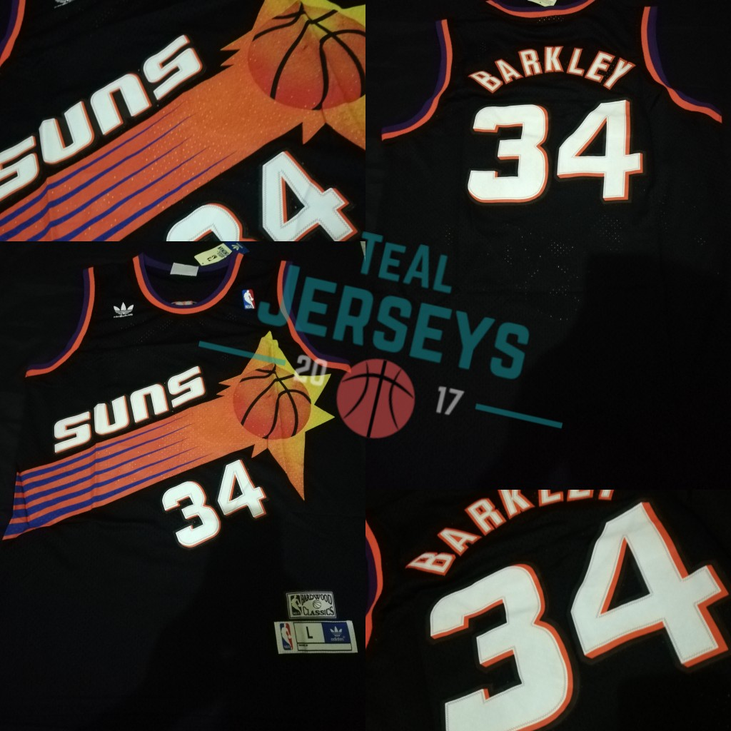 sports shoes f9194 f72ac Charles Barkley Phoenix Suns Black Jersey