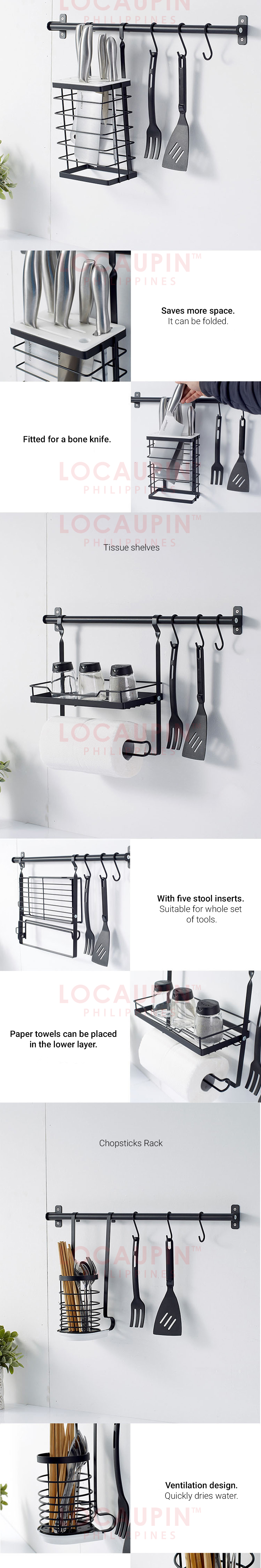 Wall Mounted Hanging Holder Kitchen